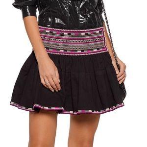 Saxen embellished cotton mini skirt